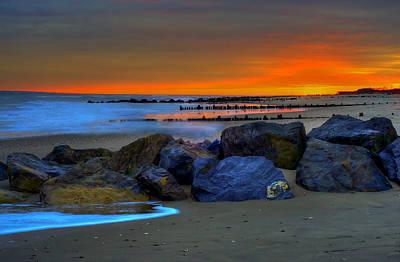 Gunmetal Photograph - Gunmetal Sunset by Mike  Deutsch