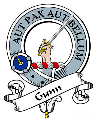 Gunn Clan Badge Art Print by Heraldry