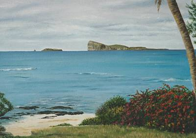 Quoin Painting - Gunner's Quoin From Pointe Aux Cannoniers - Mauritius by Gulay Berryman