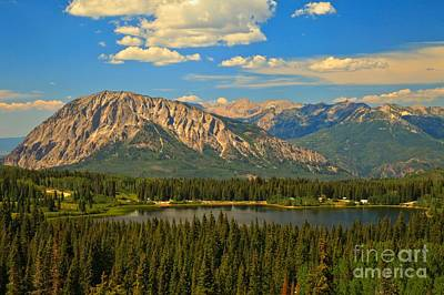 Photograph - Gunnison High Mountain Lake by Adam Jewell