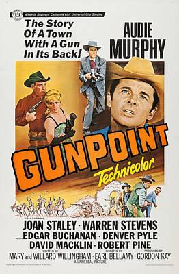 Gunpoint, L-r Audie Murphy, Joan Staley Art Print by Everett