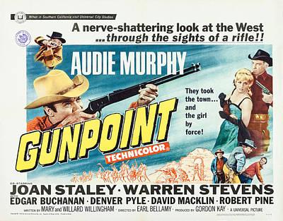Gunpoint, Us Lobbycard, Center Art Print by Everett
