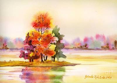 Painting - Gunpowder State Park In The Fall by Yolanda Koh