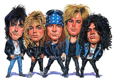 Comics Royalty-Free and Rights-Managed Images - Guns N Roses by Art
