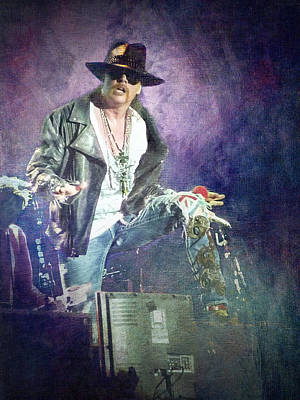 Guns N' Roses Lead Vocalist Axl Rose Art Print by Loriental Photography