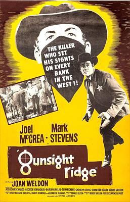 1950s Movies Photograph - Gunsight Ridge, From Left Mark Stevens by Everett