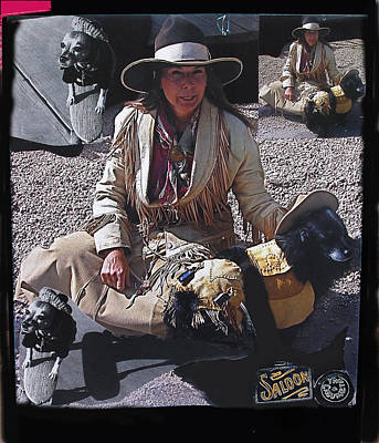 Gunslinger Dog Collage Tombstone Arizona 2004-2010 Art Print by David Lee Guss