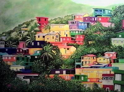 Puerto Rico Painting - Gurabo Puerto Rico by Ramon Lopez Collazo