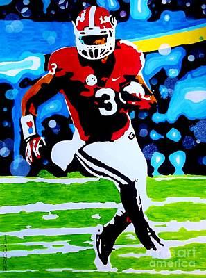 Georgia Bulldog Painting - Gurley by Kyle  Brock