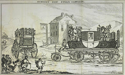 Gurney's Steam Carriage Art Print by British Library