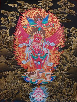 Vajrayana Painting - Guru Drakpur by Binod Art School