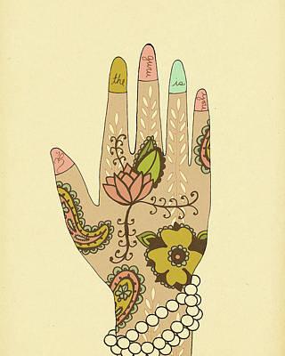 Henna Painting - Guru by Lisa Barbero