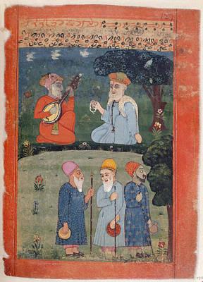 Guru Nanak Mardana & Fakirs Art Print by British Library