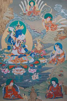 Buddhist Painting - Guru Orgyen Dorje Chang by Binod Art School