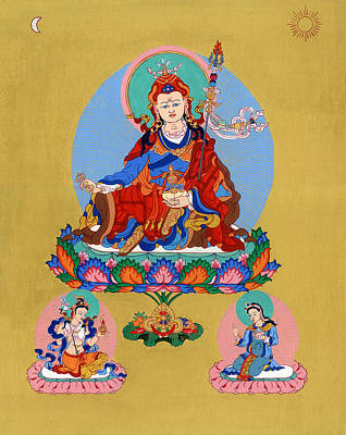 Tantra Painting - Guru Rinpoche by Ies Walker
