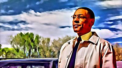 Painting - Gus Fring by Florian Rodarte