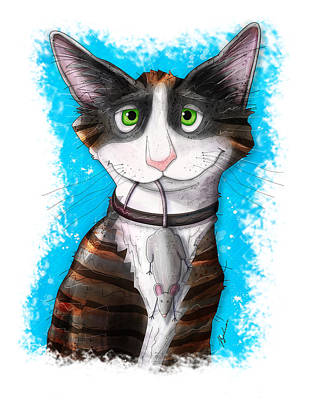 Kitten Digital Art - Gus by Gary Bodnar