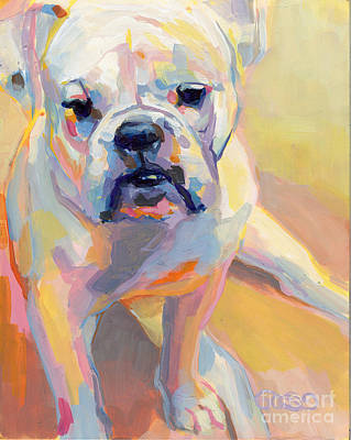 A Dog A Day Painting - Gus by Kimberly Santini