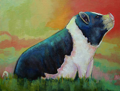 Painting - Gus The Pig by Carol Jo Smidt