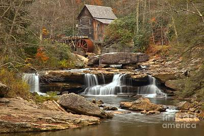 Woden Wall Art - Photograph - Gushing Below The Grist Mill by Adam Jewell