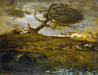 Gusts Painting - Gust Of Wind  by Jean Francois Millet