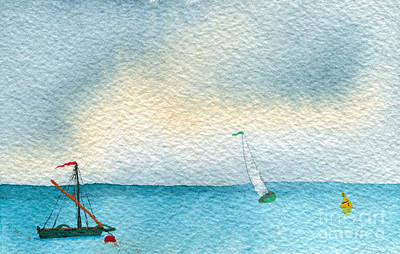 Blue Bouys Painting - Gust by R Kyllo
