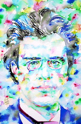 Painting - Gustav Mahler - Watercolor Portrait by Fabrizio Cassetta