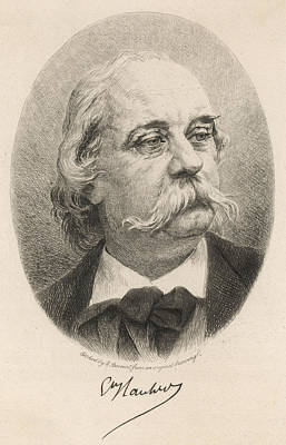 Gustave Flaubert Wall Art - Drawing - Gustave Flaubert (1821-1880) French by Mary Evans Picture Library