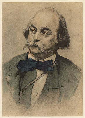 Gustave Flaubert Wall Art - Drawing - Gustave Flaubert   French Writer by Mary Evans Picture Library