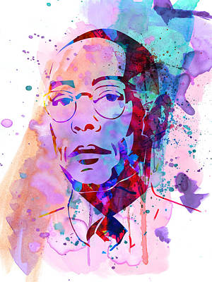 Gustavo Fring Watercolor Print by Naxart Studio