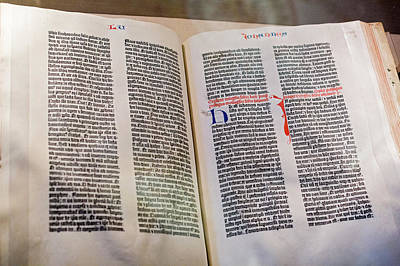 Library Of Congress Photograph - Gutenberg Bible by Jim West