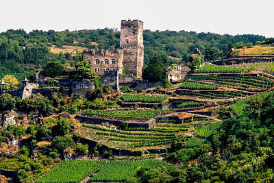 Photograph - Gutenfels Castle Near Kaub Germany by Marilyn Burton