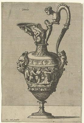 Centaur Drawing - Gutturnium, Johannes Or Lucas Van Doetechum by Johannes Or Lucas Van Doetechum And Hans Vredeman De Vries And Hieronymus Cock