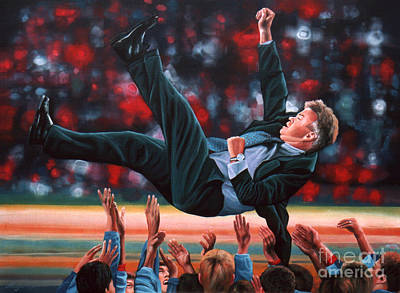 Soccer Painting - Guus Hiddink by Paul Meijering