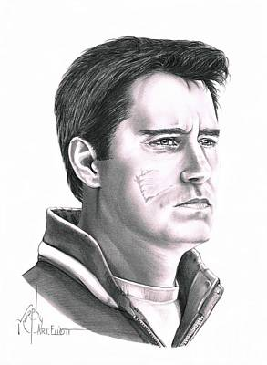 Hockey Drawing - Guy Boucher by Murphy Elliott