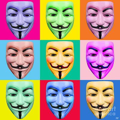 Revolt Digital Art - Guy Fawkes by Neil Finnemore
