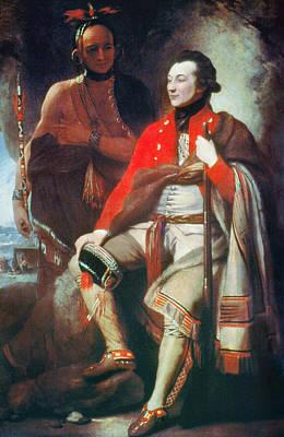 Redcoats Painting - Guy Johnson (c1740-1788) by Granger