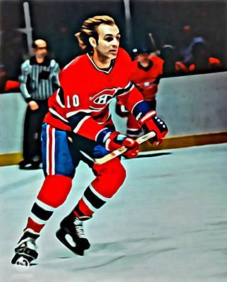 Montreal Canadiens Painting - Guy Lafleur by Florian Rodarte