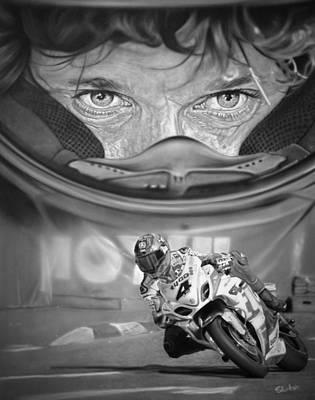 Motogp Painting - Guy Martin by Tom Ryczkowski