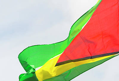 Georgetown Wall Art - Photograph - Guyana National Flag, Georgetown by Keren Su