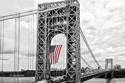 Politicians Royalty-Free and Rights-Managed Images - GW Bridge - Celebrating Flag Day by Regina Geoghan