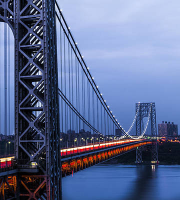 Gwb From Fort Lee Art Print by Chris Halford