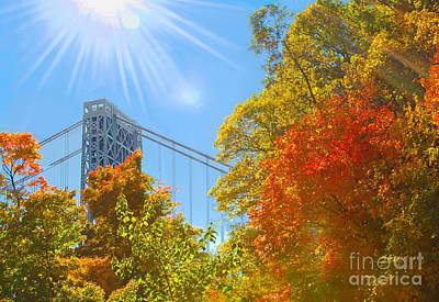 Politicians Royalty-Free and Rights-Managed Images - GWBridge- Sunkissed Autumn Afternoon by Regina Geoghan