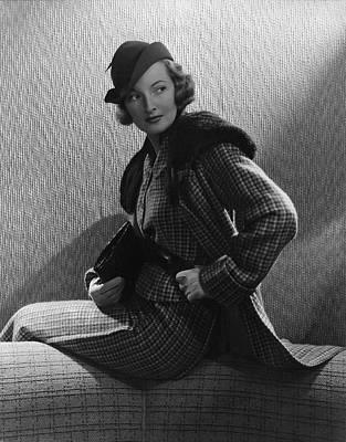 Clutch Bag Photograph - Gwili Andre Wearing Yvonne Carette by Edward Steichen