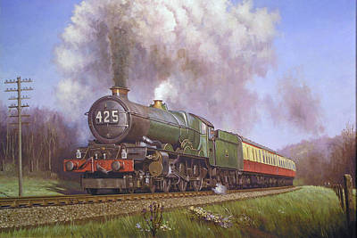 Express Painting - Gwr King Class On Dainton Bank. by Mike Jeffries
