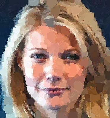 Painting - Gwyneth Paltrow Portrait by Samuel Majcen