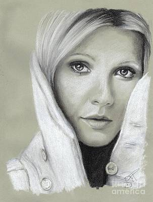 Drawing - Gwyneth Paltrow by Rosalinda Markle