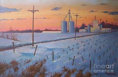 Painting - Gym Road Elevator by Ron Bowles