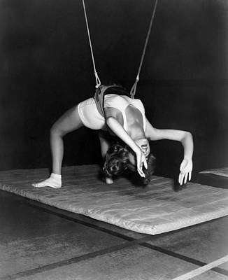 Photograph - Gymnasium Harness Workout by Underwood Archives