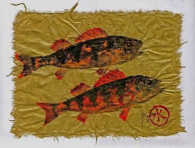 Gyotaku - Yellow Perch - Orange Roughy Original